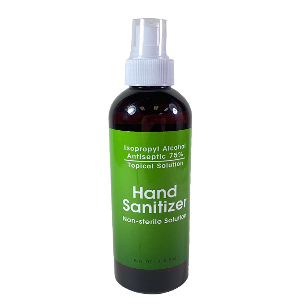 Hand Sanitizer Isopropyl Alcohol 75% Non - 8 oz