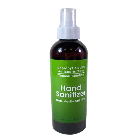 Hand Sanitizer Isopropyl Alcohol 75% Non - Sterile Solution 8 oz