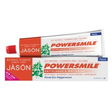 Jason Natural Toothpaste Powersmile Peppermint Fluoride Free 6oz
