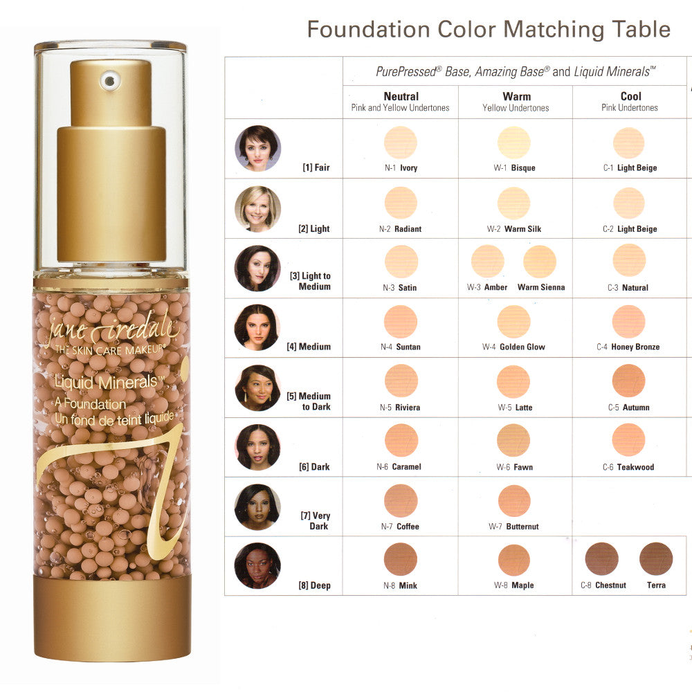 Jane Iredale Liquid Minerals Foundation - Warm Silk