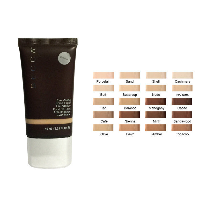Becca Ever Matte Shine Proof Foundation -Caffe 1.35oz 40 ml