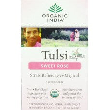 Organic India Tulsi Sweet Rose Tea 18 Bags