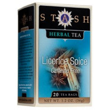 Stash Tea Licorice Spice Herbal Caffeine Free 20 Bags