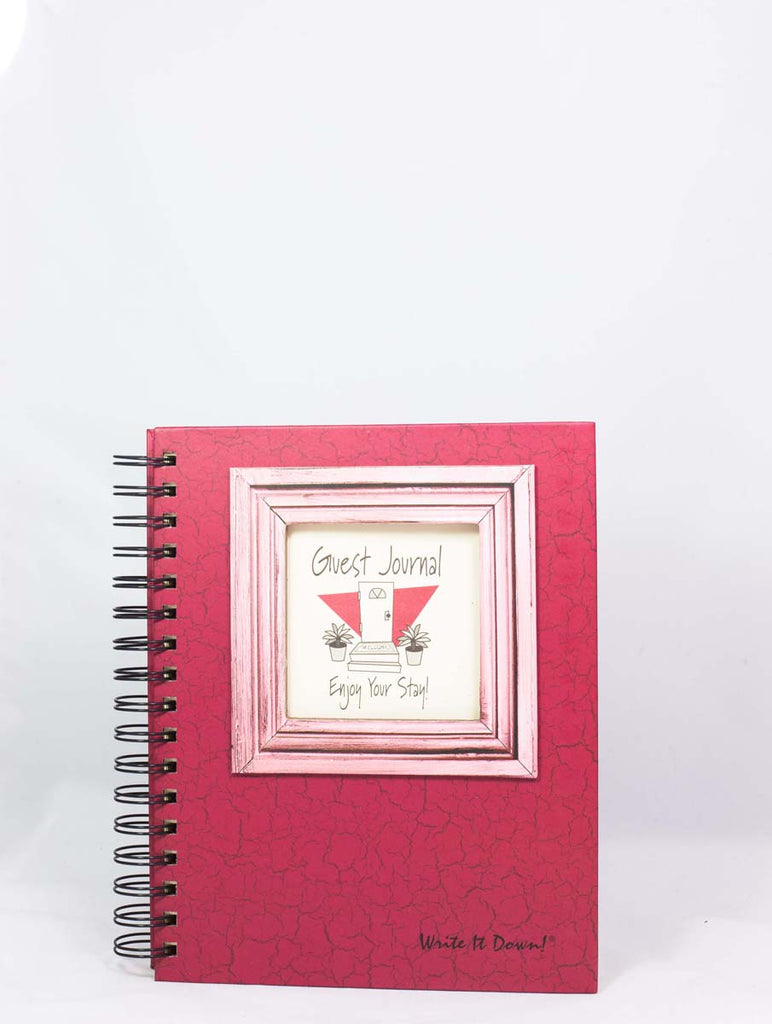Journals Unlimited Guest Or Visitors Journal Cranberry Hard Cover