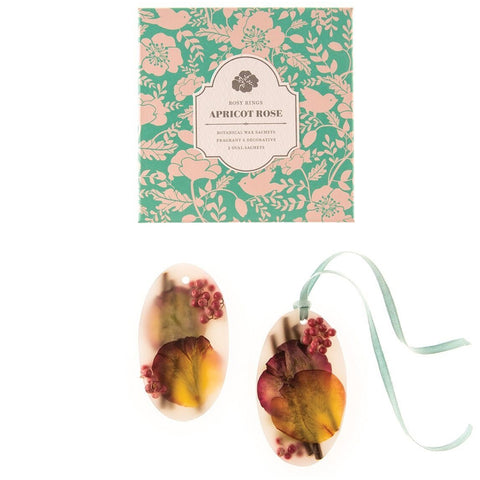 Rosy Rings Botanical Wax Sachet Oval Set - Apricot Rose