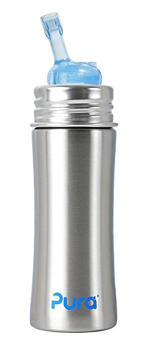 Pura Kiki Straw Cup, Natural Stainless,11oz