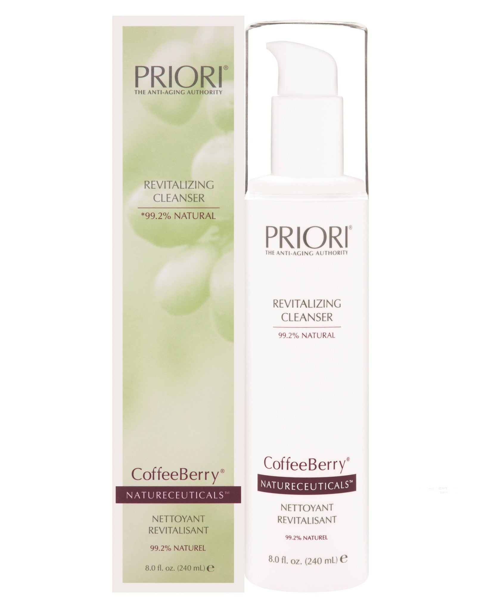 Priori CoffeeBerry Natureceuticals Revitalizing Cleanser, 8oz (240mL)