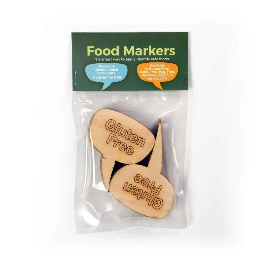 Gluten Free Food Markers (Wood)