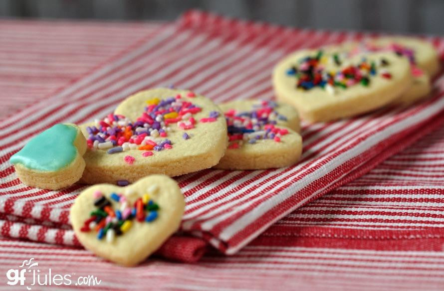 Gluten free cut-out cookies made with gfJules all purpose gluten free flour