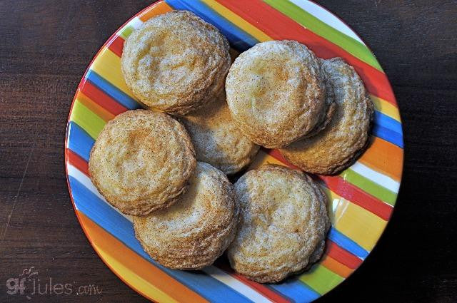 Gluten free snickerdoodles made using gfJules all purpose gluten free flour