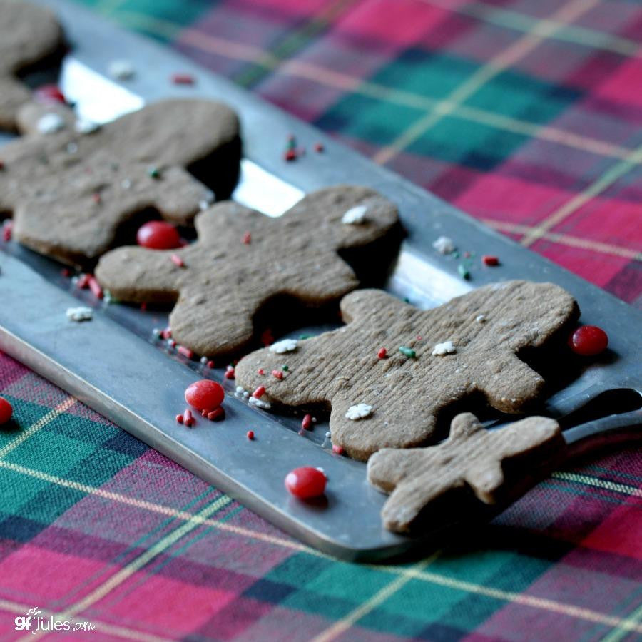 Gluten free gingerbread men made using gfJules gluten free graham cracker - gingerbread mix