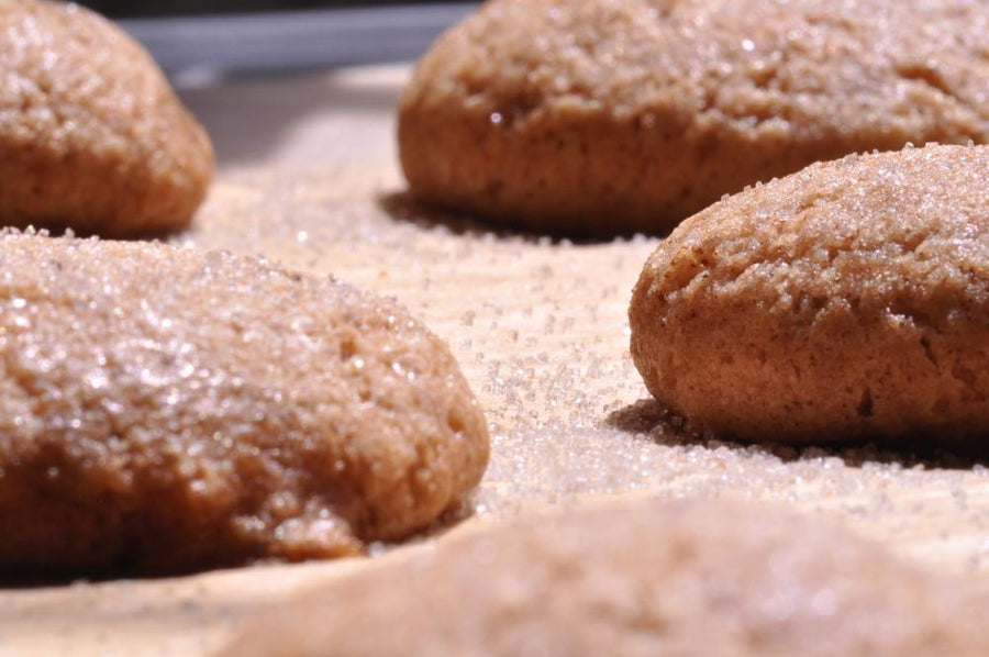 Gluten free gingersnaps made using gfJules gluten free graham cracker - gingerbread mix