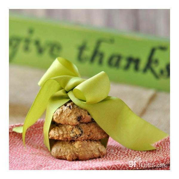 Gluten free cookies in a ribbon, made with gfJules gluten free cookie mix