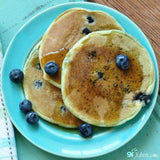 Gluten free pancakes made using gfJules gluten free pancake mix
