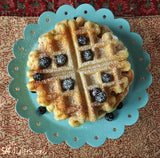 Gluten free waffles made with gfJules gluten free pancake mix