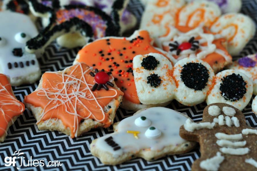 gfJules gluten free cut out sugar cookie mix used to make gluten free halloween cookies