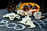 Gluten free halloween cookies made with gfJules gluten free cut out sugar cookie mix