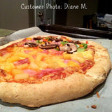 Customer photo of Gluten free cheese pizza made with gfJules gluten free pizza crust mix