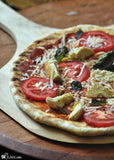 Gluten free veggie pizza made with gfJules gluten free pizza crust mix