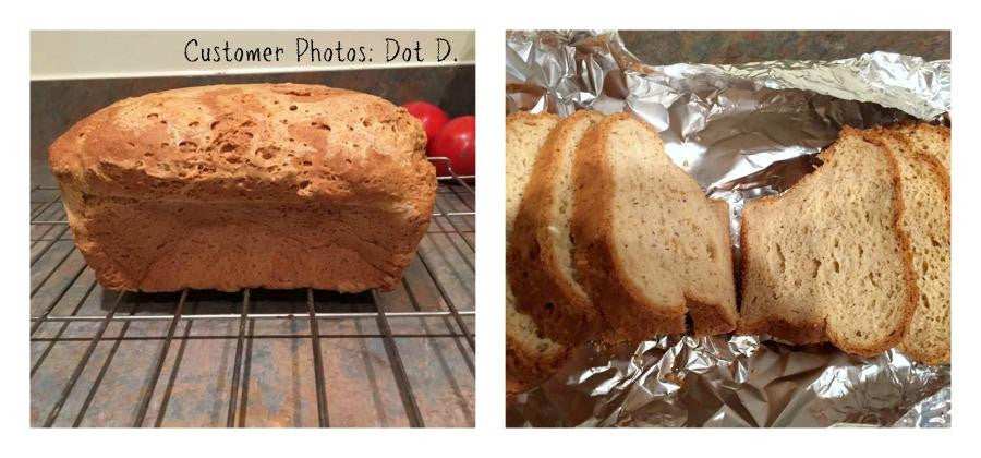 Customer photos of Gluten free bread made from gfJules gluten free bread mix
