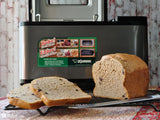 Gluten free bread loaf made in a bread machine with gfJules gluten free bread mix