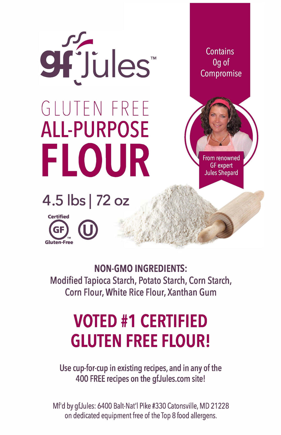 gfJules All Purpose Gluten Free Flour (4.5 Lb Bag Preorder - Ships Week of March 30)