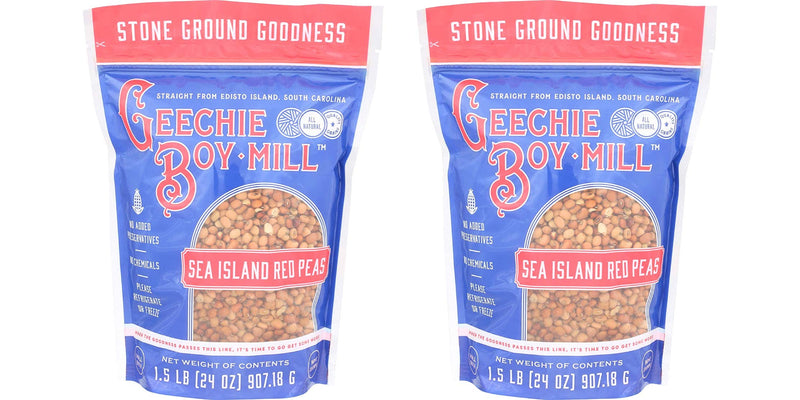 Geechie Boy Mill Sea Island Red Peas (Pack of 2, 24 oz Bags)