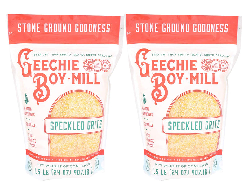 Geechie Boy Mill Speckled Grits (Pack of 2, 24 oz Bags)