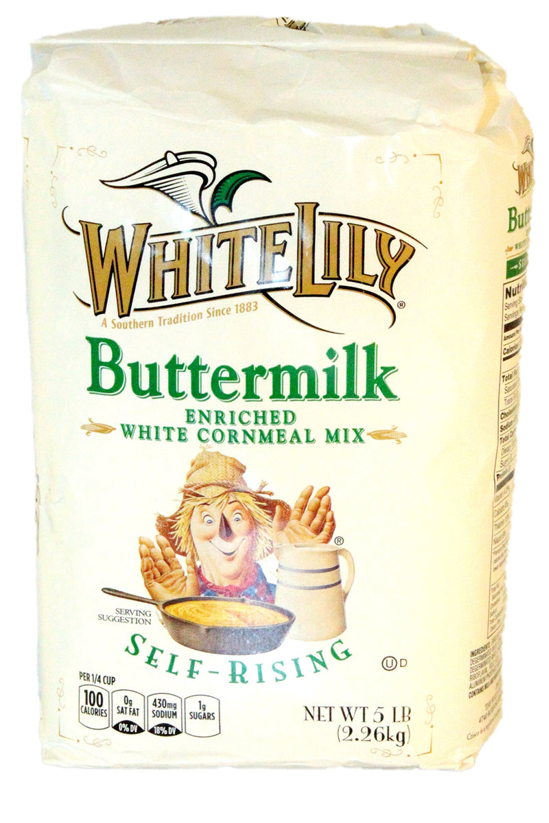 White Lily Self-Rising Buttermilk White Cornmeal Mix Enriched