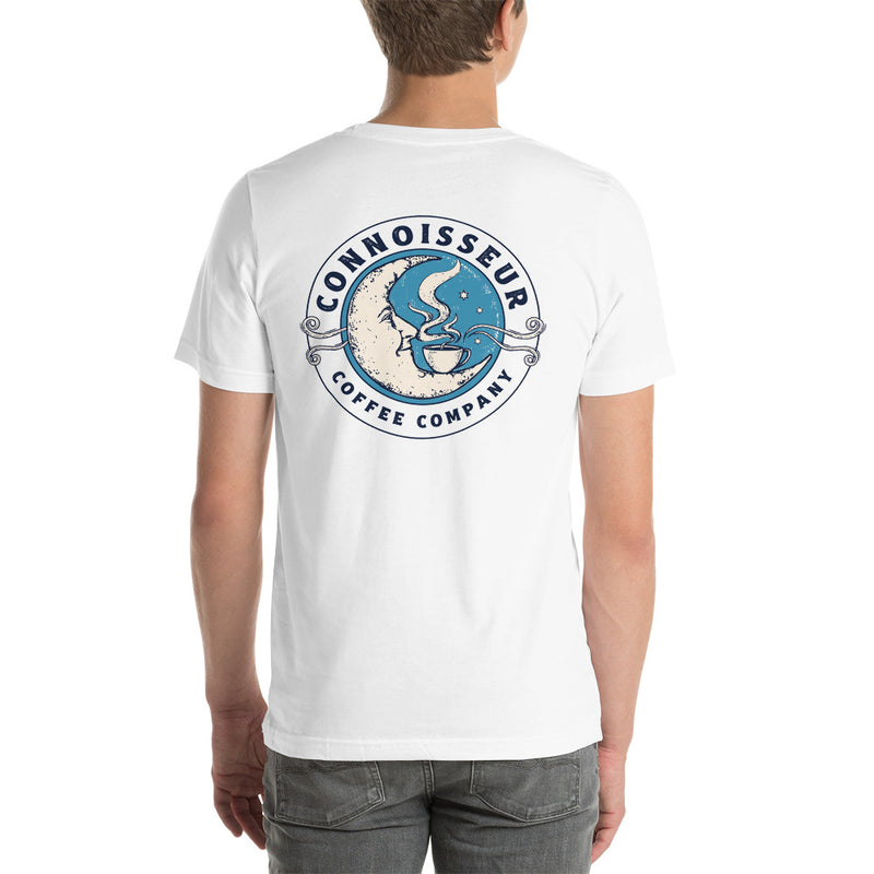 Connoisseur Coffee Company Elegant Hand Coffee Cup & Moon Unisex T-Shirt