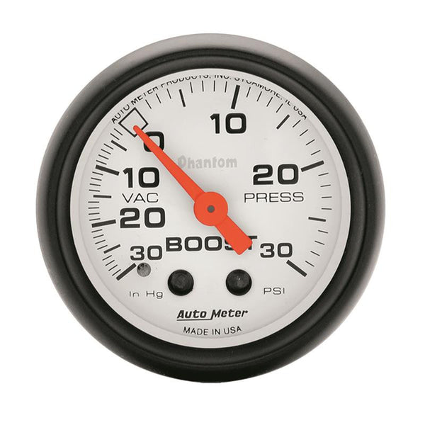 Autometer Phantom 52mm 30 PSI Mechanical Boost Gauge - 5703