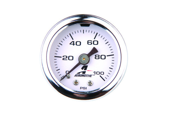 Aeromotive 0-100 PSI Fuel Pressure Gauge - 15633