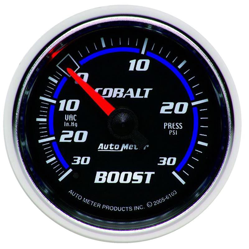 Autometer Cobalt 52mm 30psi mechanical Boost Gauge - 6103
