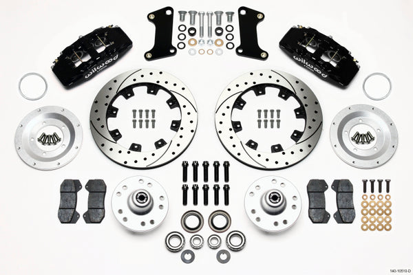 Wilwood Dynapro 6 Front Hub Kit 12.19in Drilled 67-69 Camaro 64-72 Nova Chevelle