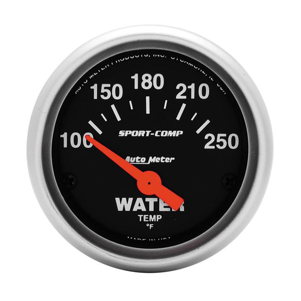 Autometer Sport-Comp 52mm 100-250 Deg F Electronic Water Temp Gauge - 3337