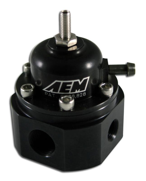 AEM Universal Black Adjustable Fuel Pressure Regulator - 25-302BK