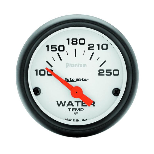 Autometer Phantom 52mm 100-250 Deg F Electronic Water Temp Gauge - 5737