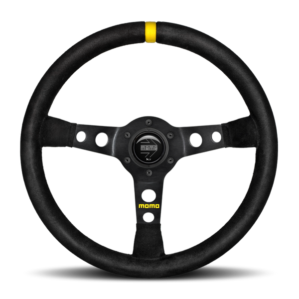 MOMO Mod.07 Steering Wheel - Black Suede - 350mm