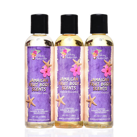 Jamaican Fruits Scented Body Oils Set of 3