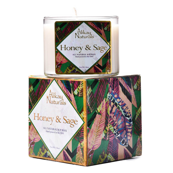 Honey & Sage Luxury Soy Candle