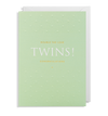 Lagom - Double the love Twins congrats Card