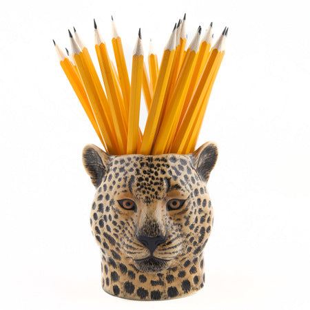 QUAIL - Leopard pencil pot