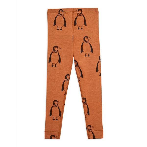 Mini Rodini - AW20 - Penguin Wool Leggings - Brown