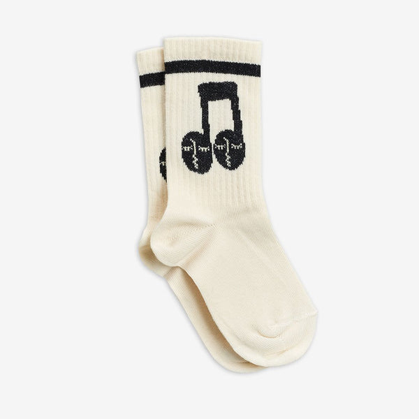 Mini Rodini - AW20 - Notes Socks - Offwhite