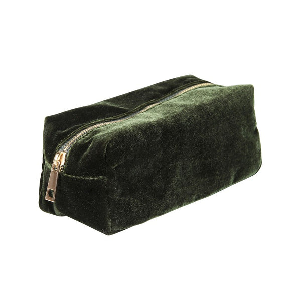 &Klevering - Velvet case dark green small