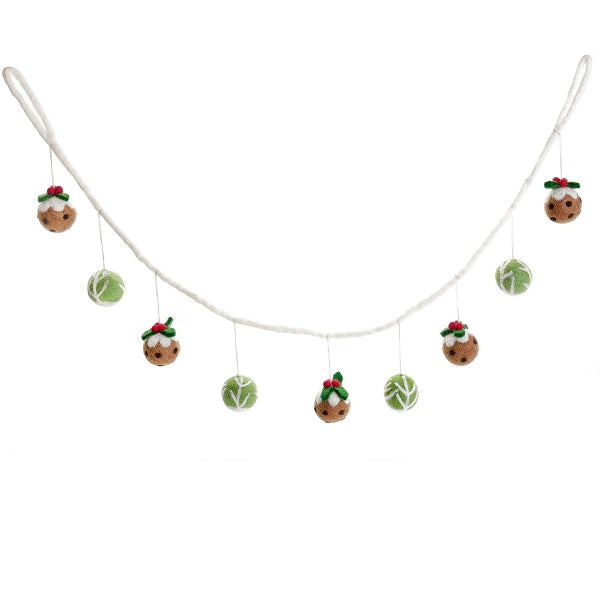 Amica - Sprout & Christmas Pudding Garland