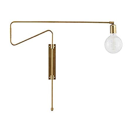 House Doctor - Wall Lamp - Swing - Brass Plated