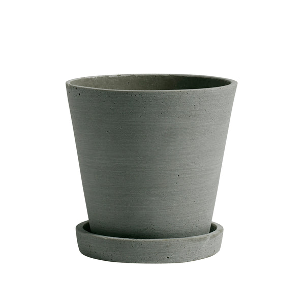 Hay - Flowerpot With Saucer M - Green