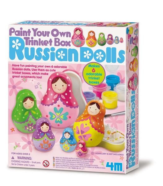 4M Paint your Own Russian Doll Trinket