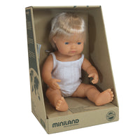Miniland - Toddler Doll caucasian boy 38CM